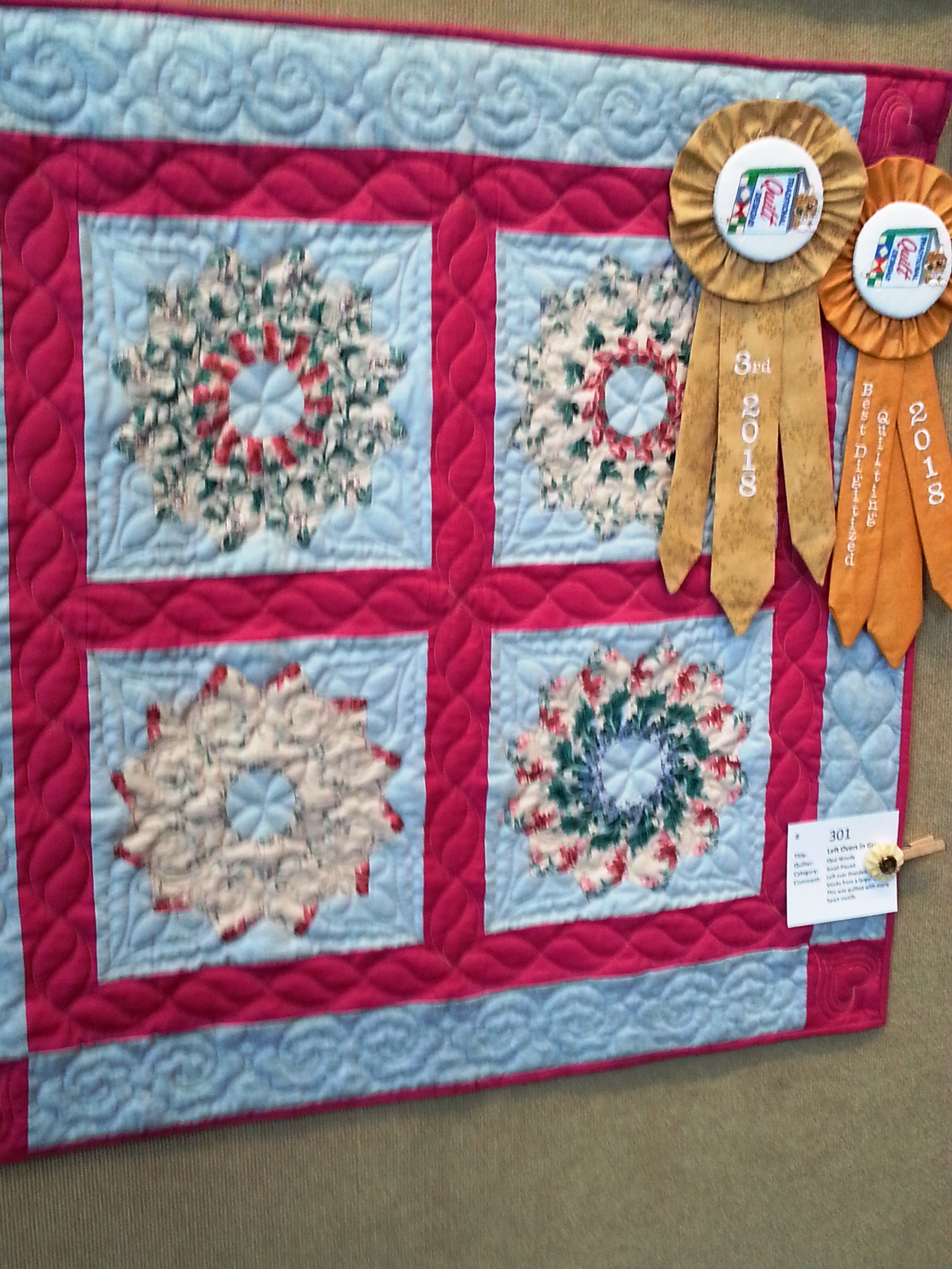 Best Digitized Quilting and 3rd Place - Small Pieced